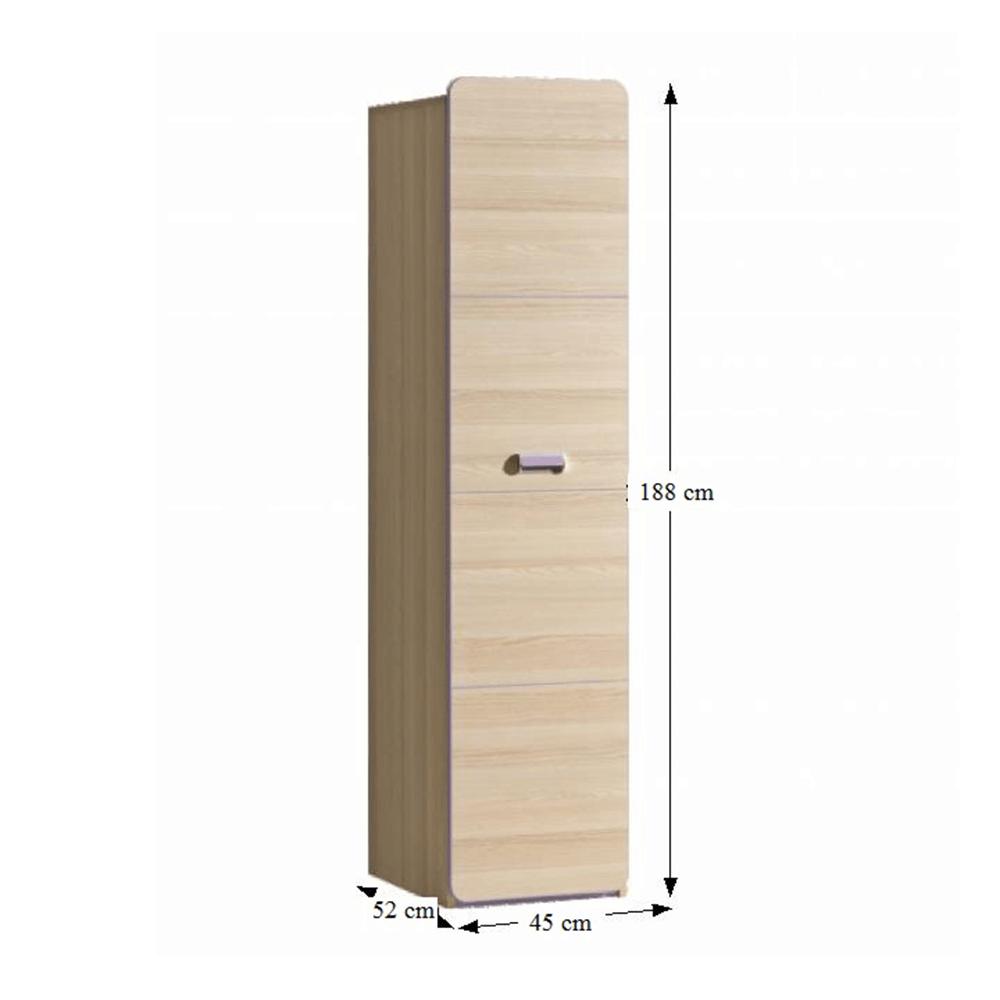 Policová skříň, jasan/fialová, EGO L2