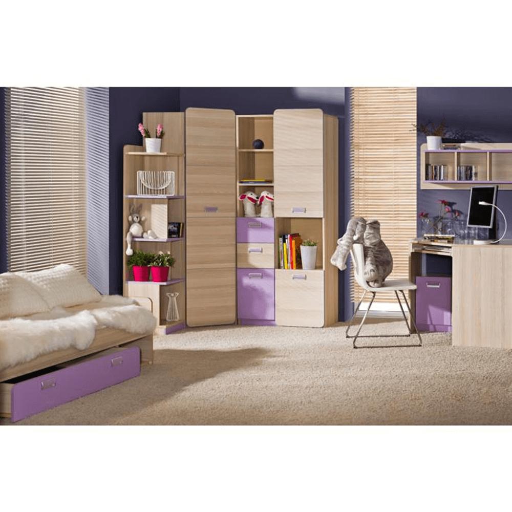 Skříňka, jasan/fialová, EGO L4