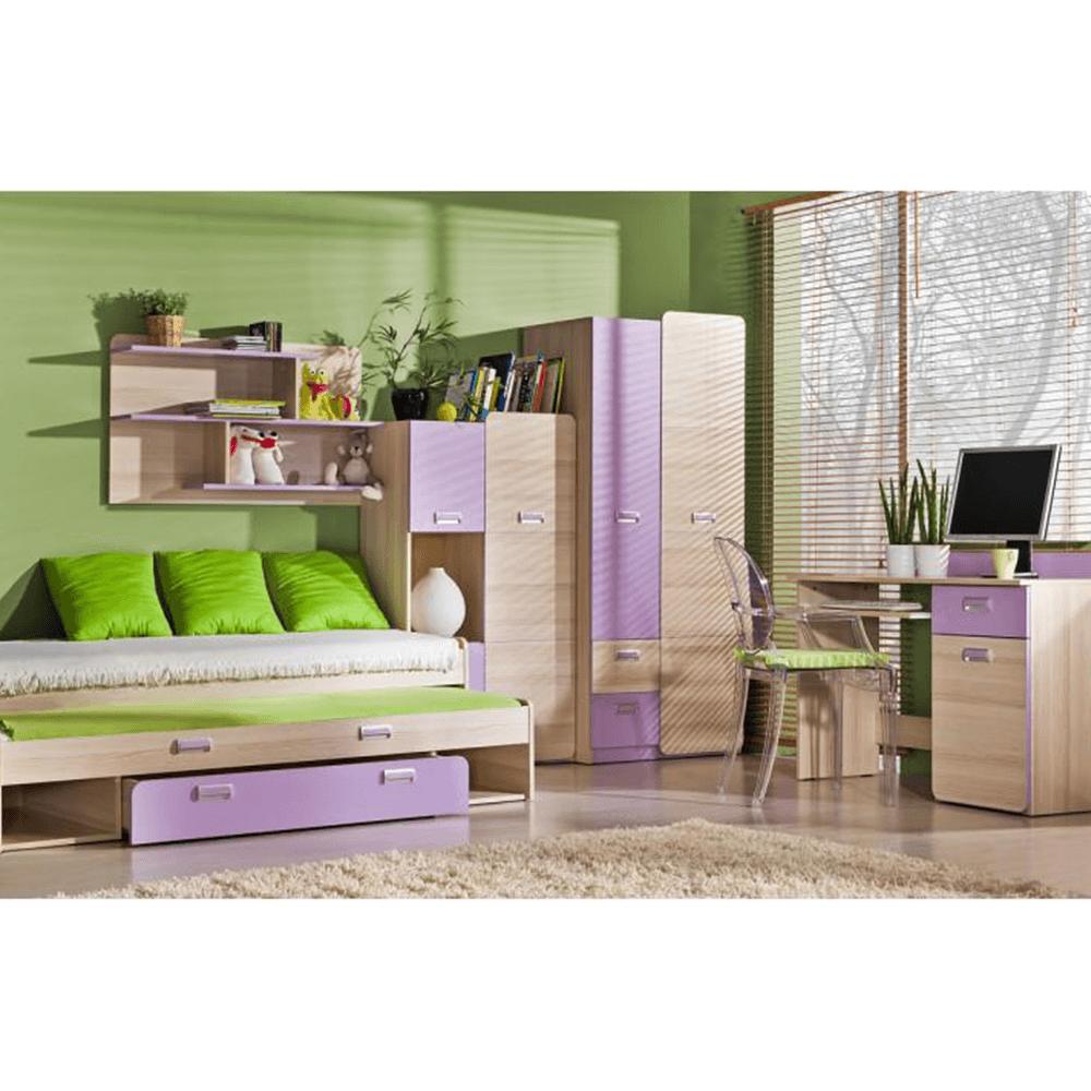 Skříňka, jasan/fialová, EGO L5