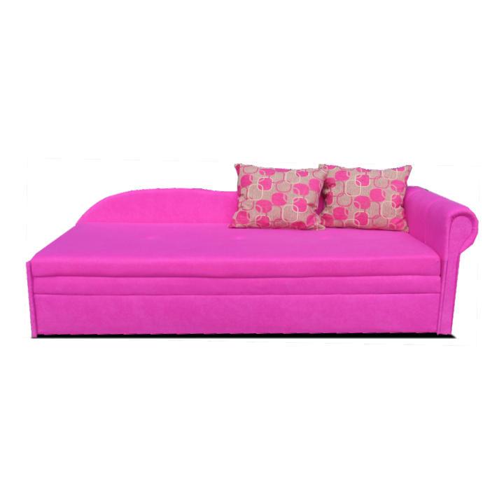 Kanapé ágyfunkcióval, rózsaszín, jobb oldali kivitel, AGA D