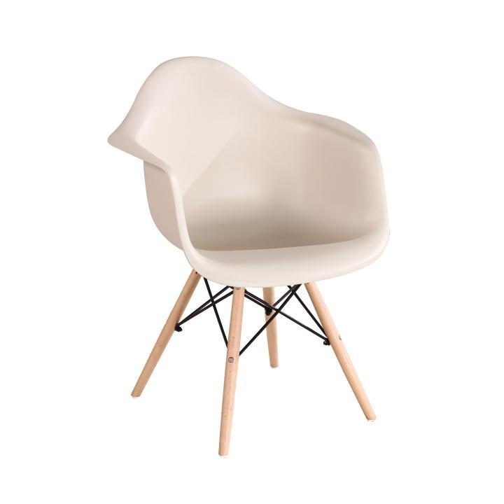 Fotel, bükkfa+bézs/capuccino, DAMEN