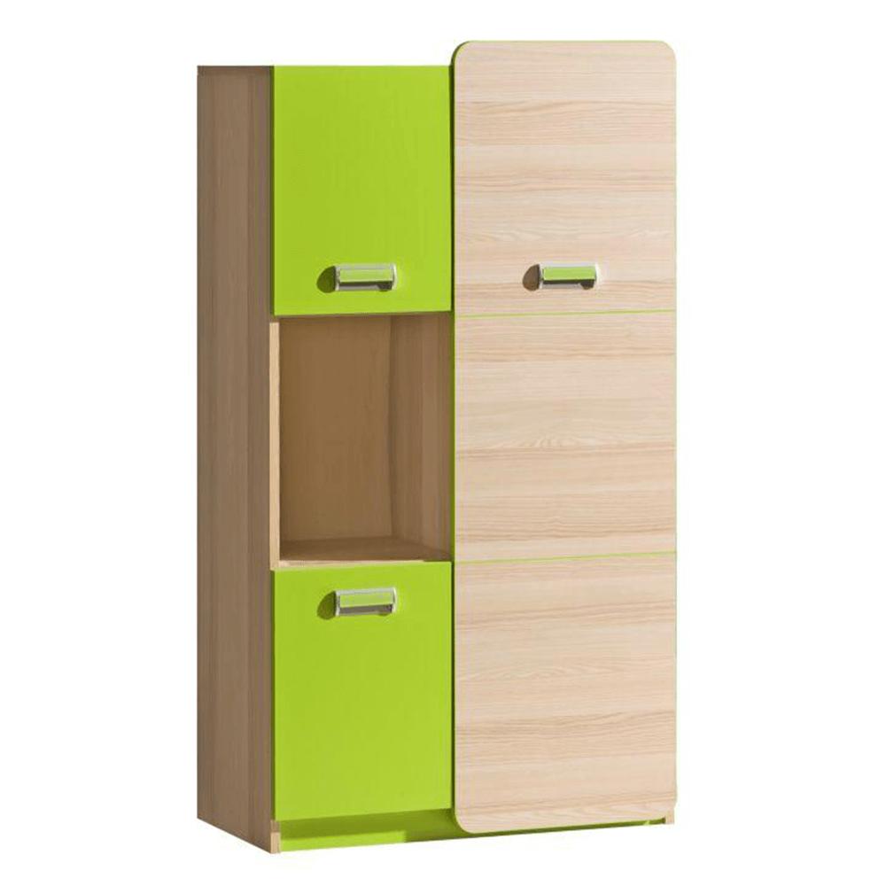 Skříňka, jasan / zelená, EGO L5, TEMPO KONDELA