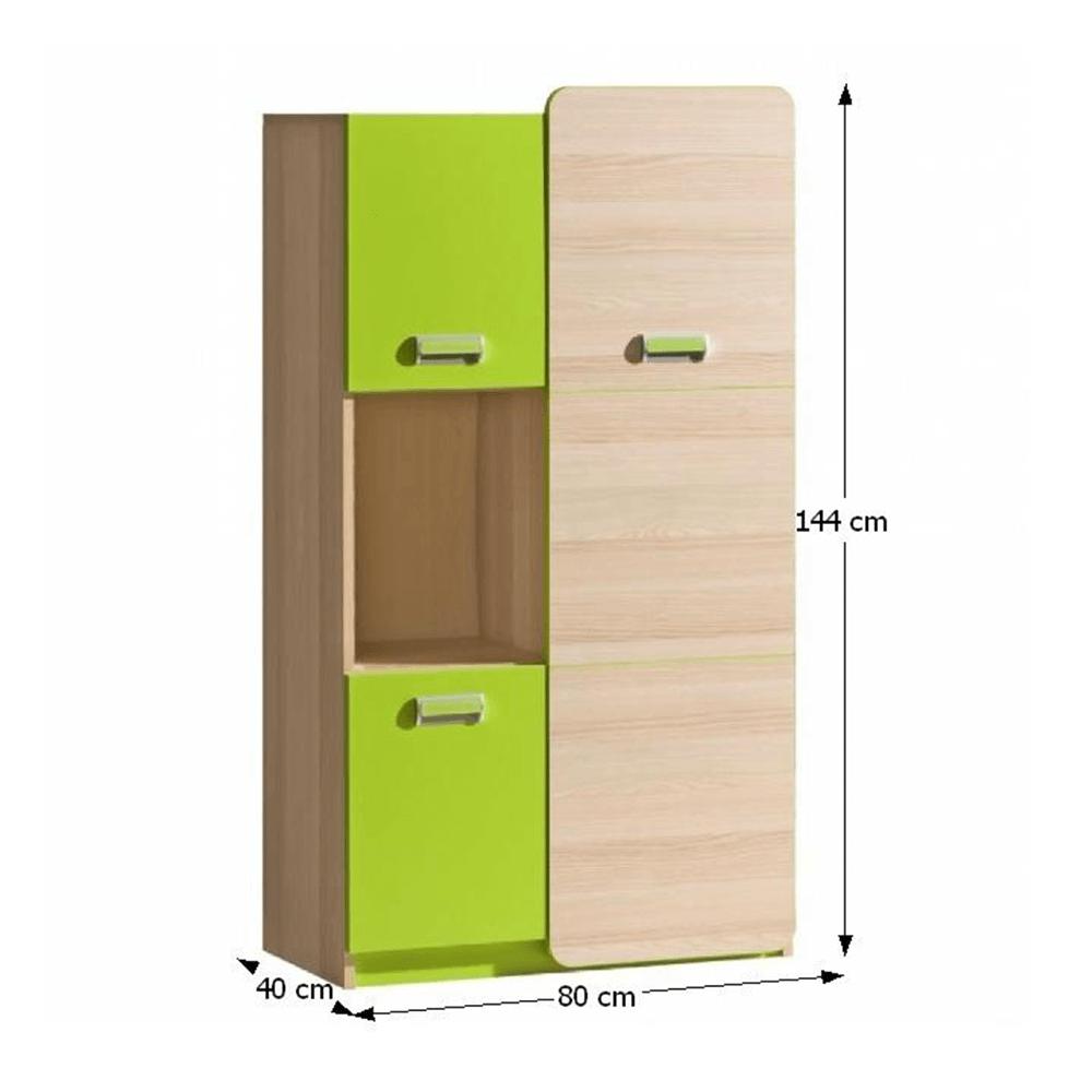 Skrinka, jaseň/zelená, EGO L5