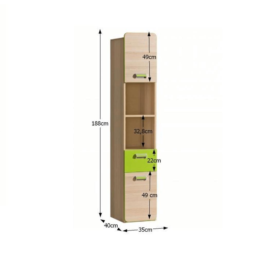 Vitrin, kőrisfa/zöld, EGO L3
