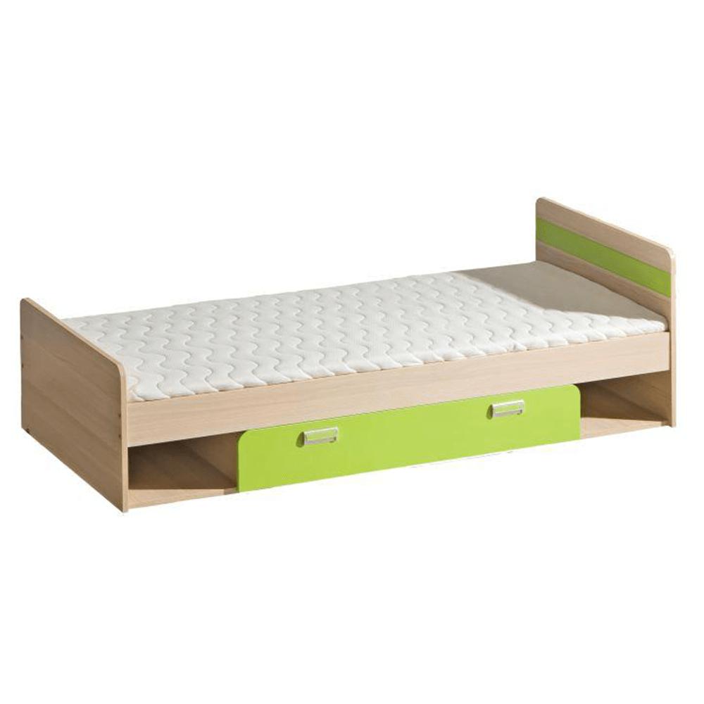 Postel komplet, jasan /zelená, 80x190, EGO L13