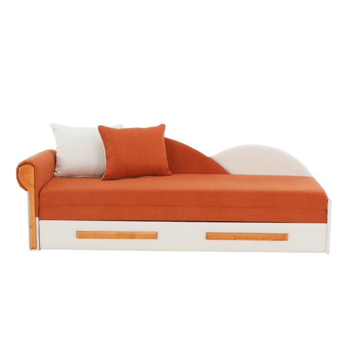 Rozkladacia pohovka, oranžovo/béžová, ľavá, DIANE