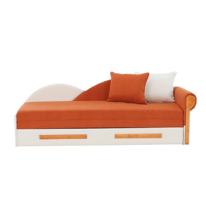 Rozkladacia pohovka, oranžovo/béžová, pravá, DIANE