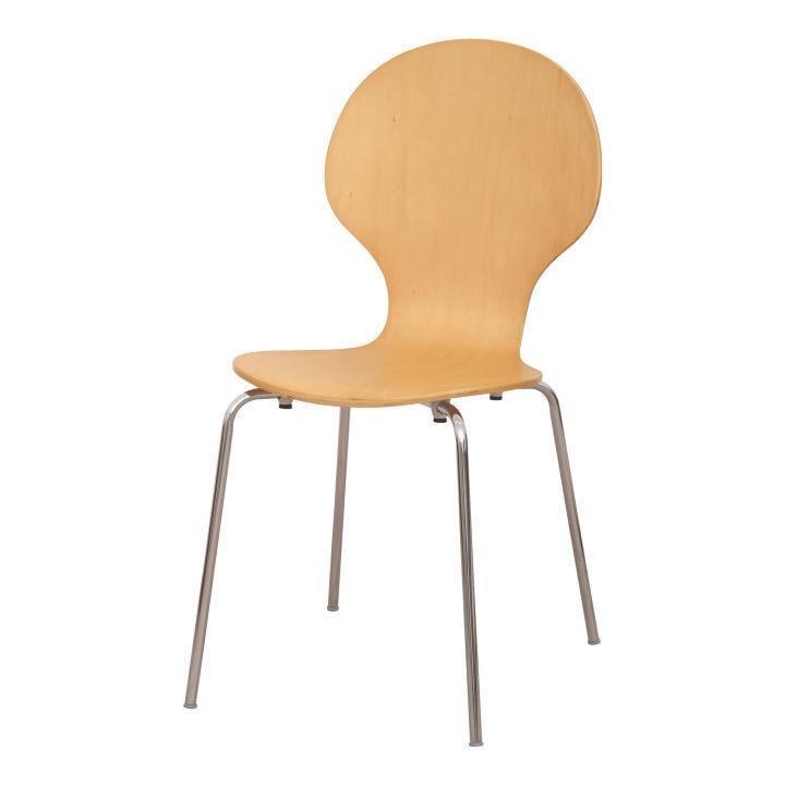 TEMPO KONDELA Stolička, drevo prírodná/chróm, MAUI NEW - Tempo nábytek