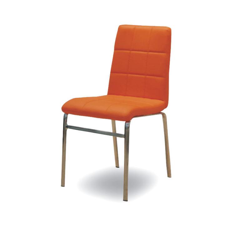 Krómozott szék - textilbőr ? narancssárga, DOROTY NEW
