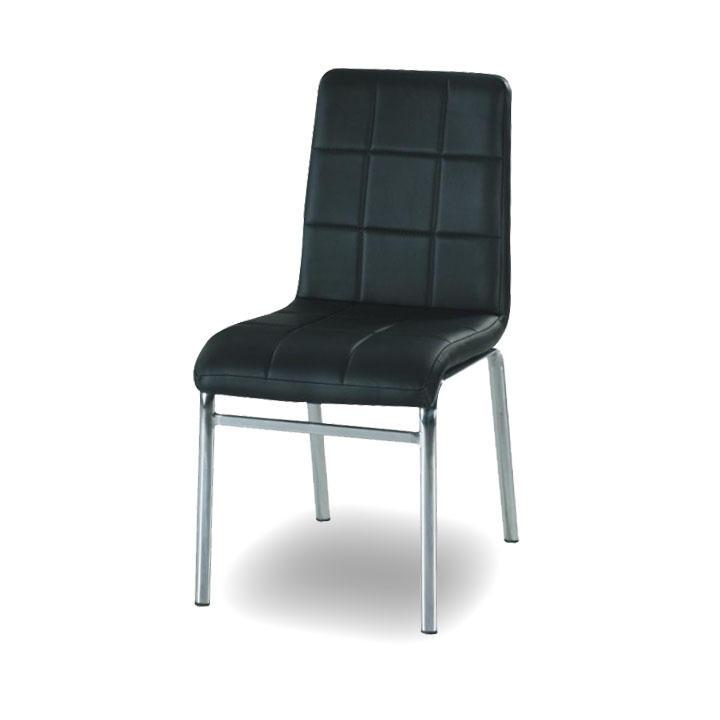Krómozott szék - textilbőr ? fekete, DOROTY NEW