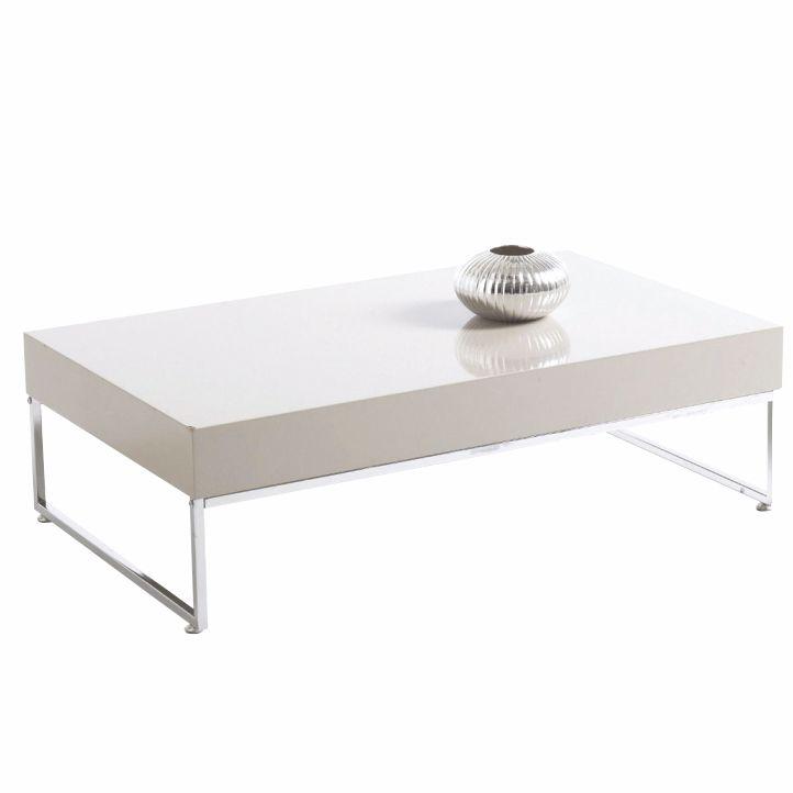 Konferenčný stolík, biela extra vysoký lesk HG, LOTTI