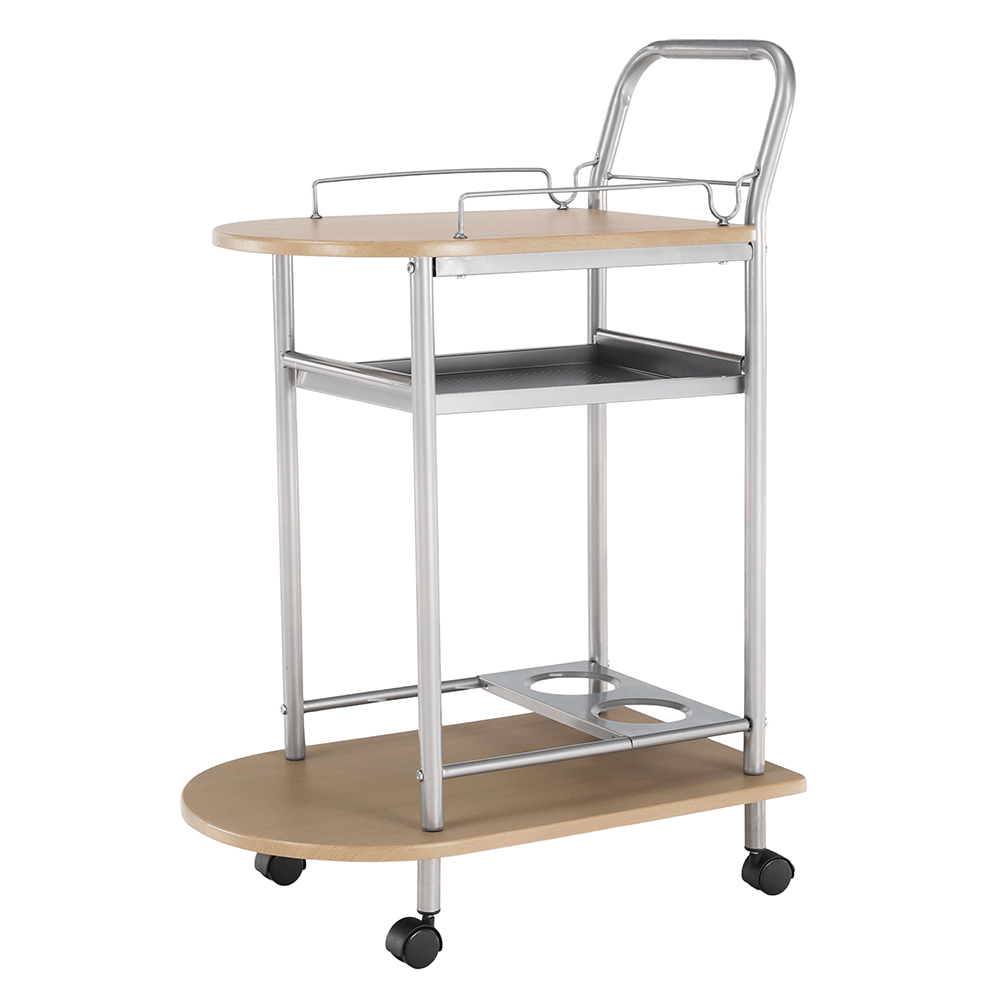 Servírovací stolík, buk/strieborný, LIMA
