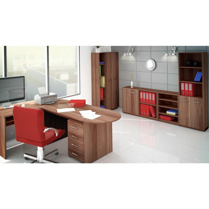 TEMPO KONDELA Písací stôl, slivka, TEMPO AS 07 - Tempo nábytek