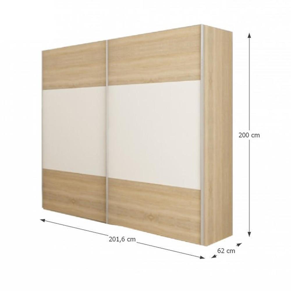 Ložnicový komplet (postel 160x200 cm), dub sonoma / bílá, GABRIELA, TEMPO KONDELA
