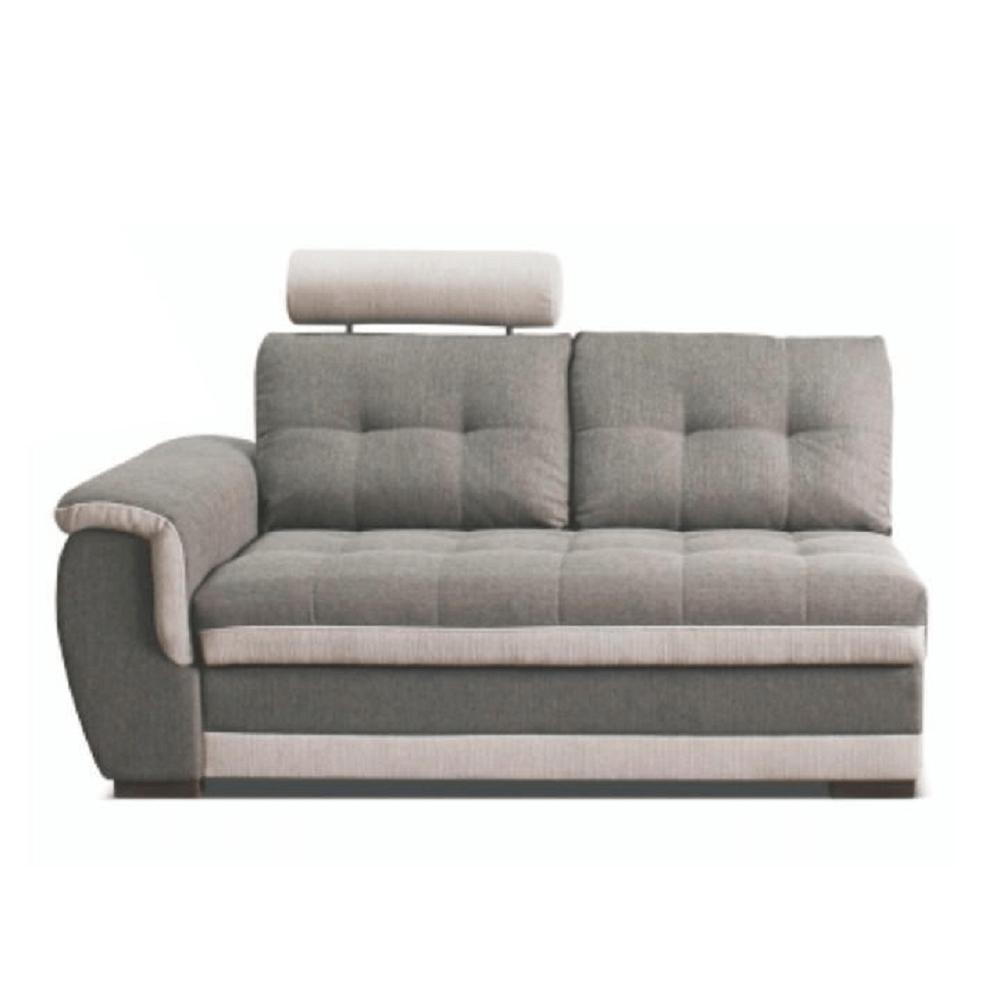 2-személyes kanapé rakodótérrel és fejtámlával, balos, szövet Inari 91 szürke + Inari 22 bézs, RUBA
