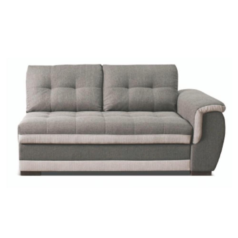 2-személyes kanapé rakodótérrel, jobbos, szövet Inari 91 szürke + Inari 22 bézs, RUBA