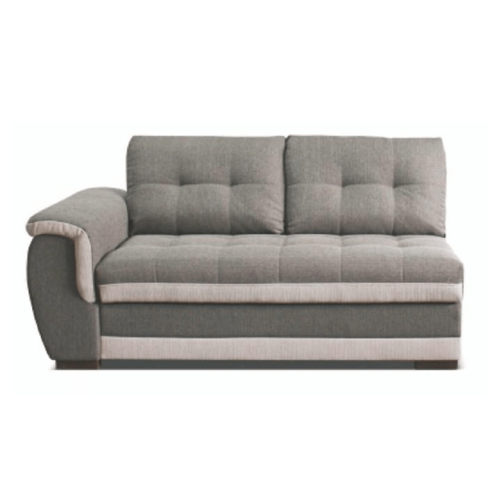 2-személyes kanapé rakodótérrel, balos, szövet Inari 91 szürke + Inari 22 bézs, RUBA