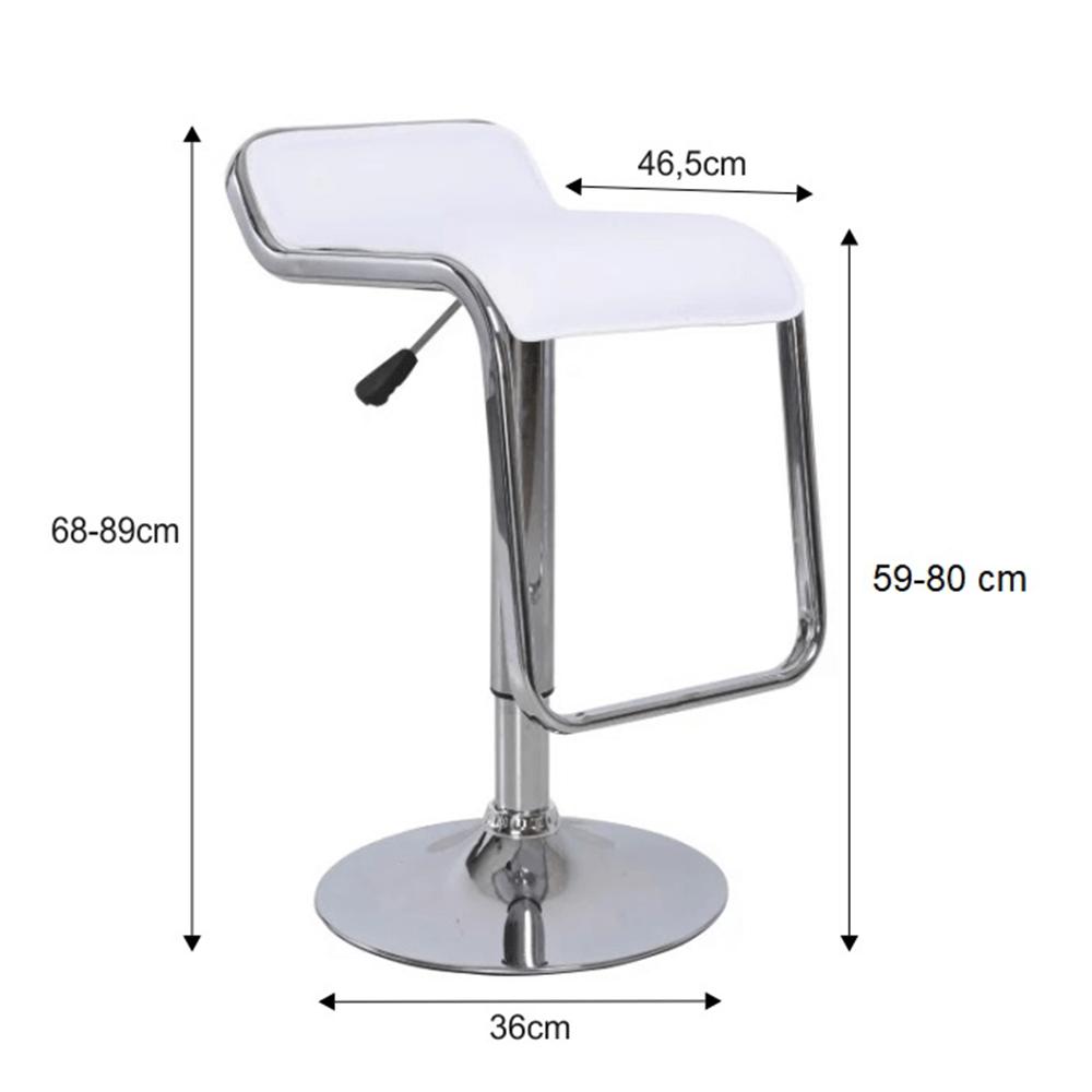 Barová židle, ekokůže bílá / chrom, Ilana NEW, TEMPO KONDELA