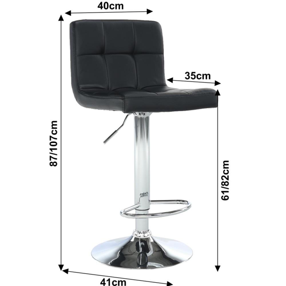 Barová židle, černá ekokůže / chrom, KANDY NEW