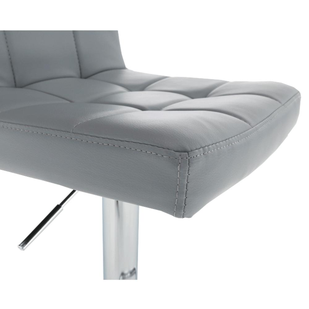Barová židle, ekokůže šedá / chrom, KANDY NEW, TEMPO KONDELA