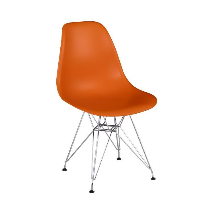 Modern szék, műanyag/narancs, ANISA