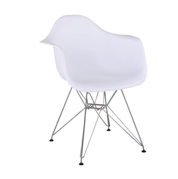 Židle - křeslo, bílá + chrom, FEMAN, TEMPO KONDELA