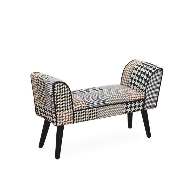 Dizajnová lavica, látka patchwork, PEPITO TYP 7