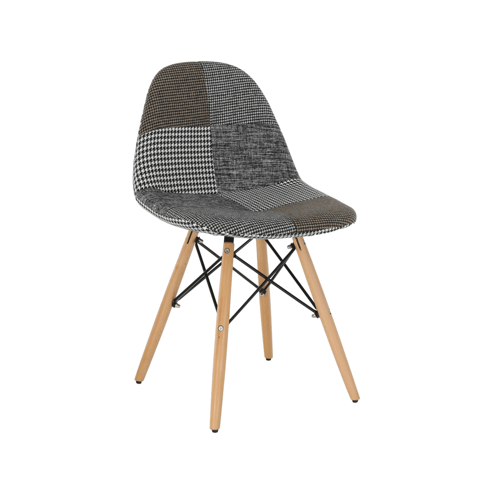 Dizájnos szék, szövet patchwork, PEPITO TYP 9