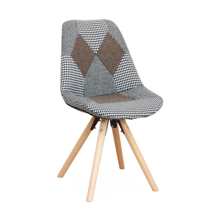 TEMPO KONDELA Dizajnová stolička, látka patchwork, PEPITO TYP 10