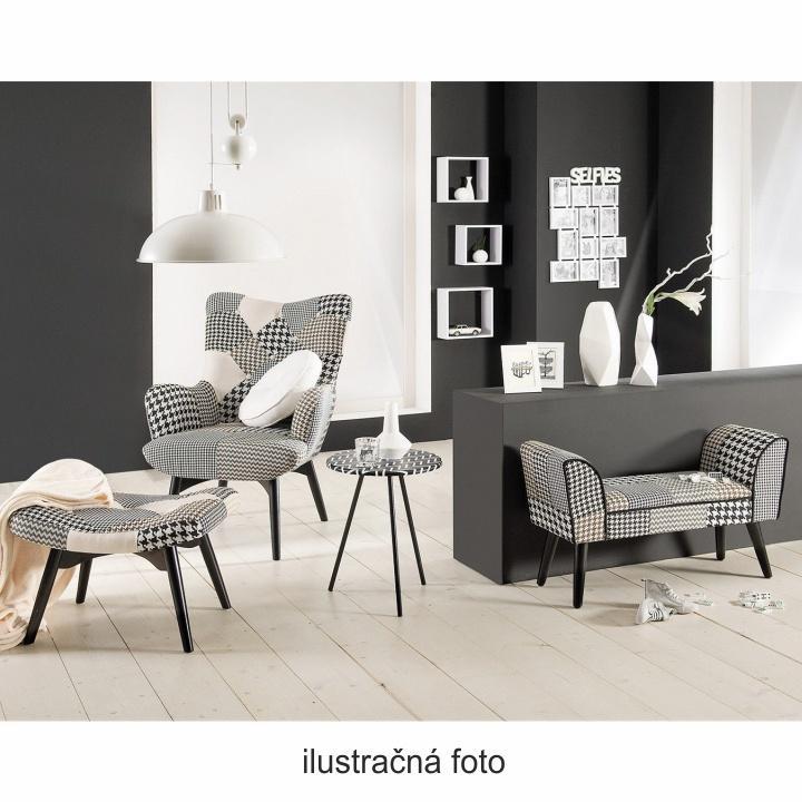 TEMPO KONDELA Dizajnová stolička, látka patchwork, PEPITO TYP 10 - Tempo nábytek