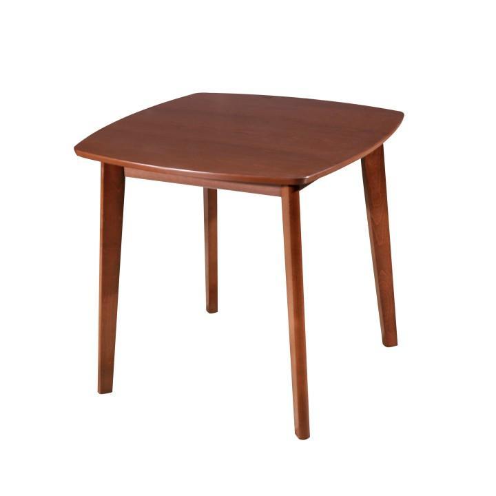 Jedálenský stôl,80x80 MDF+masív, orech, ROSPAN
