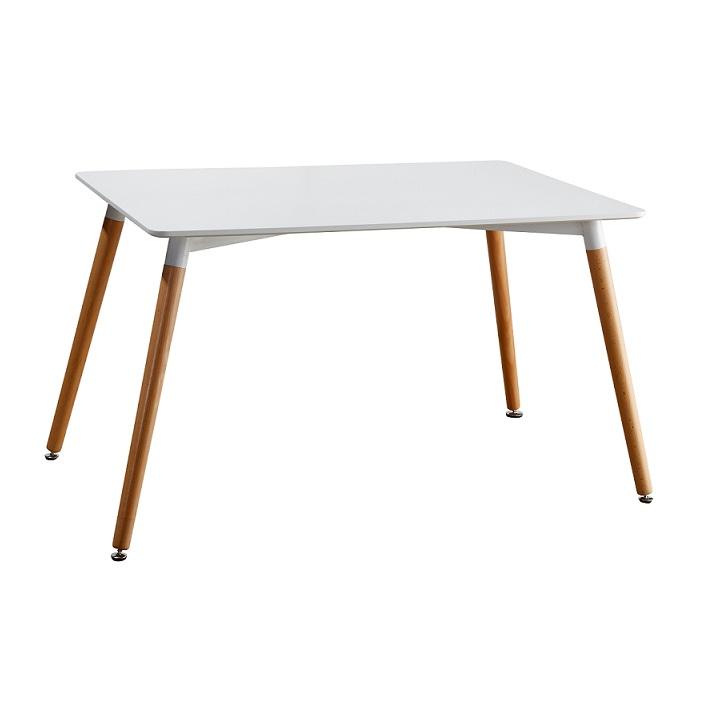 TEMPO KONDELA Jedálenský stôl, biela/buk, DIDIER 2 NEW