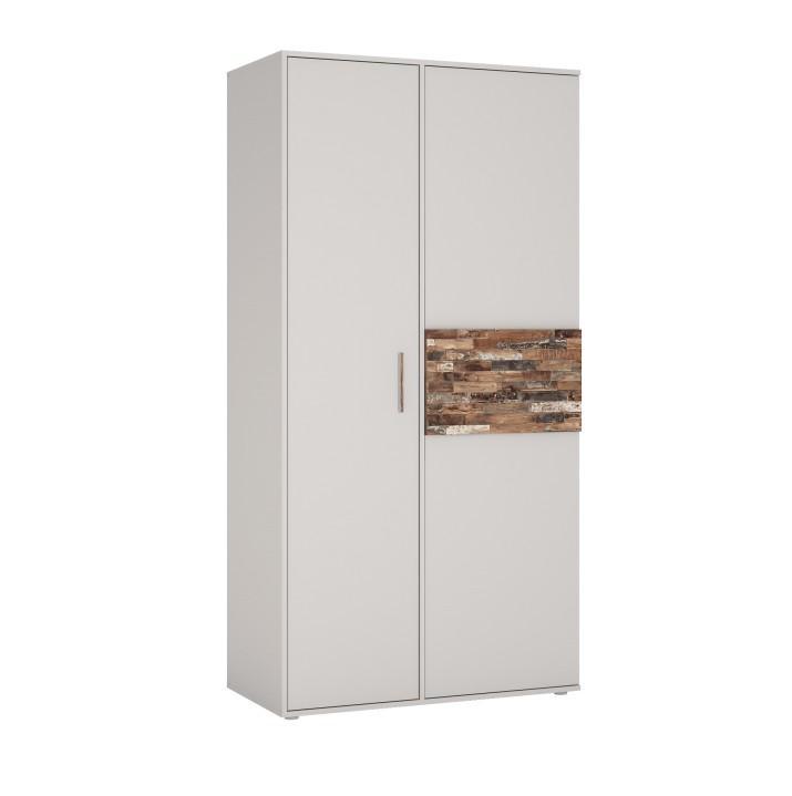 Skriňa 2-dverová 2D, kombinovaná, DTD laminovaná, grey/maracaibo, BERIA