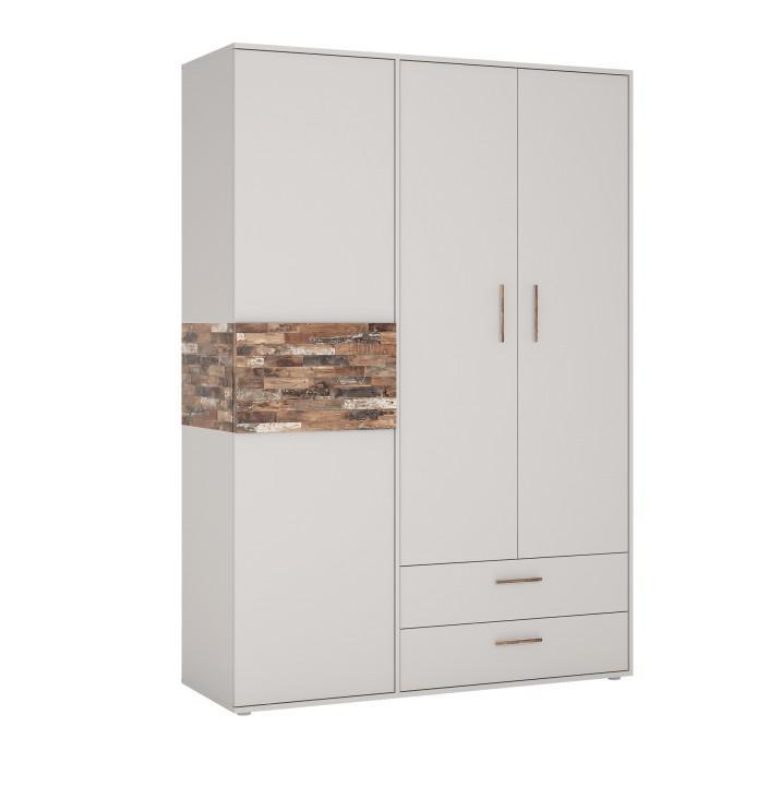 Skriňa 3-dverová 3D-2S, kombinovaná, DTD laminovaná, grey/maracaibo, BERIA