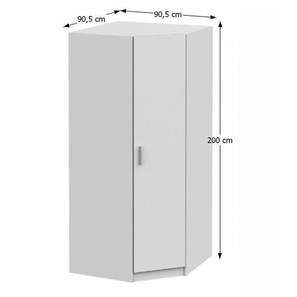 Rohová skříň, bílá, INVITA TYP 3, TEMPO KONDELA