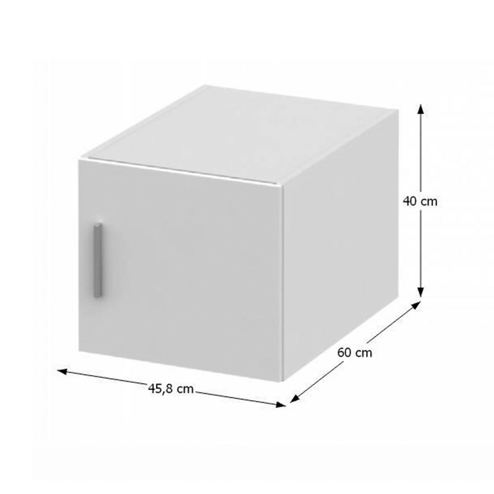 Nástavec na skříň, bílá, INVITA  TYP 6, TEMPO KONDELA