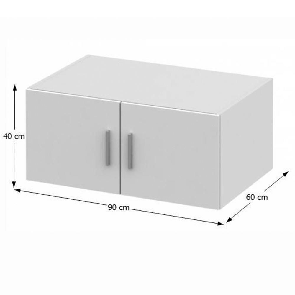 Nástavec na skříň, bílá, INVITA  TYP 9, TEMPO KONDELA