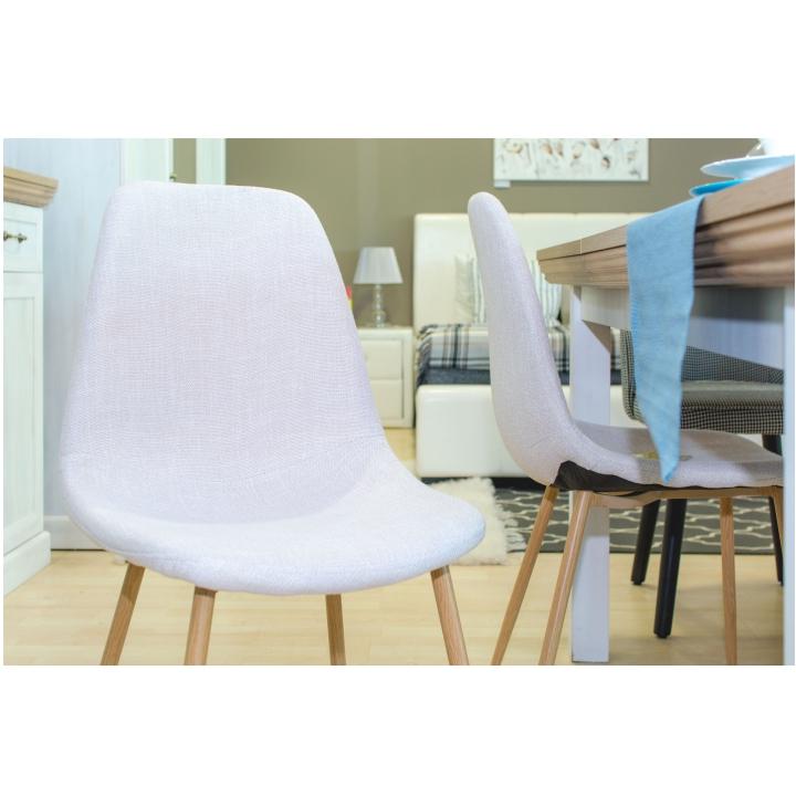 Stolička, svetlosivá látka/dub sonoma, LEGA