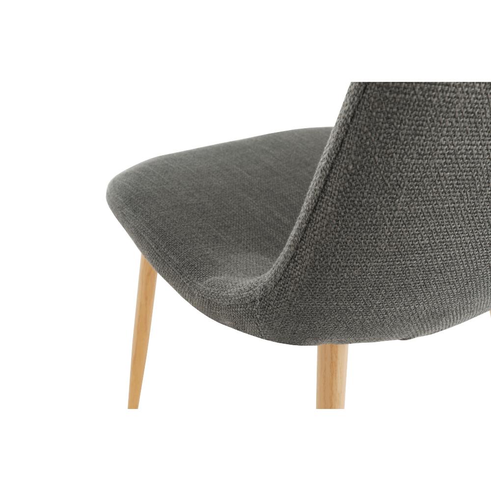 Židle, tmavě šedá látka / buk, LEGA, TEMPO KONDELA