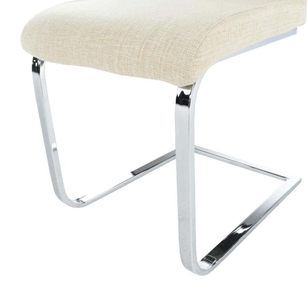 Jídelní židle, látka béžová / chrom, AMINA, TEMPO KONDELA