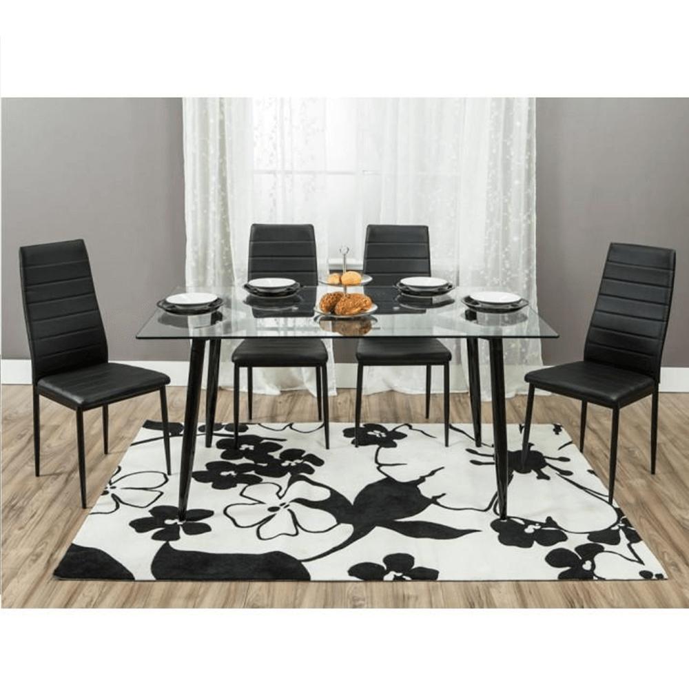 Židle, ekokůže černá / kov černá, COLETA NOVA, TEMPO KONDELA