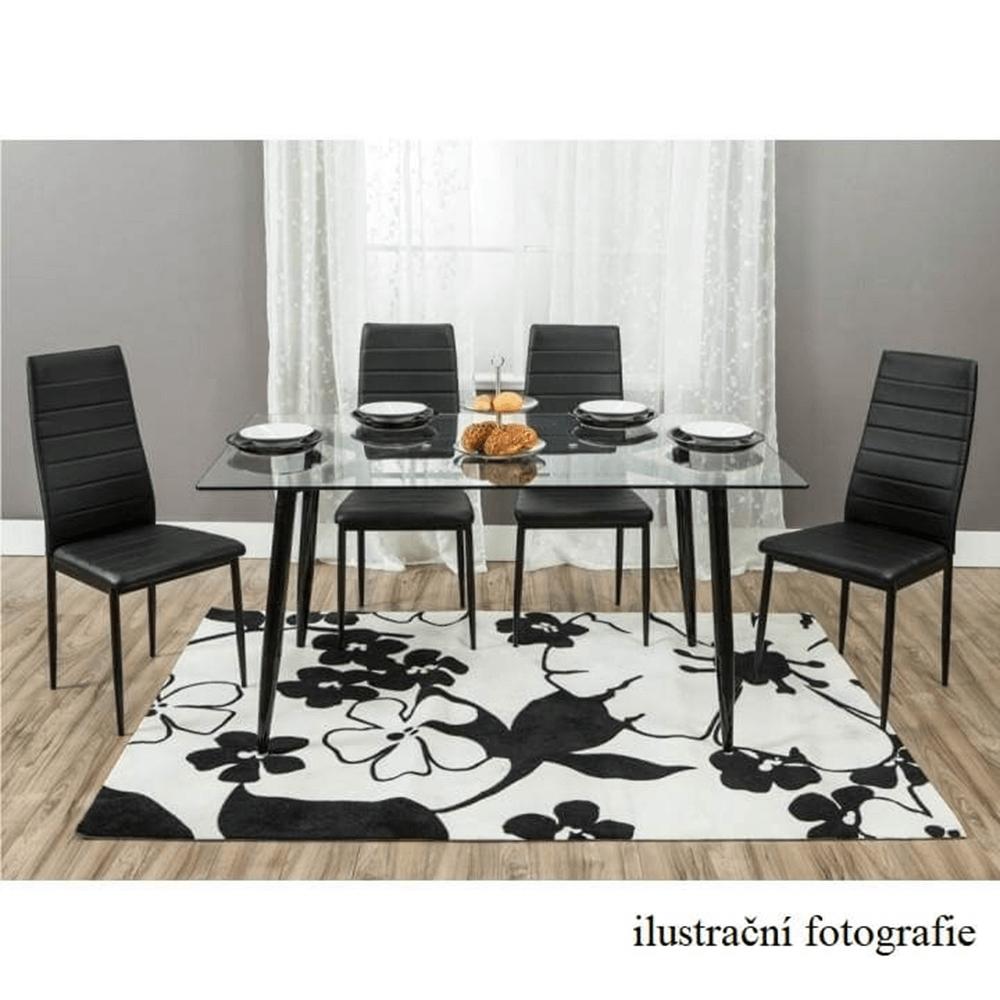 Židle, ekokůže béžová / kov stříbrná, COLETA NOVA, TEMPO KONDELA