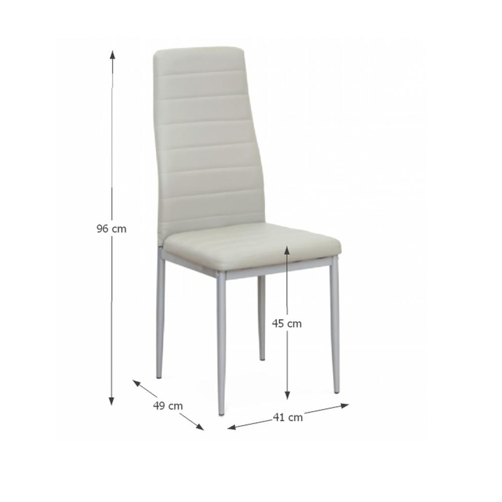 Židle, ekokůže šedá/kov stříbrná, COLETA NOVA, TEMPO KONDELA