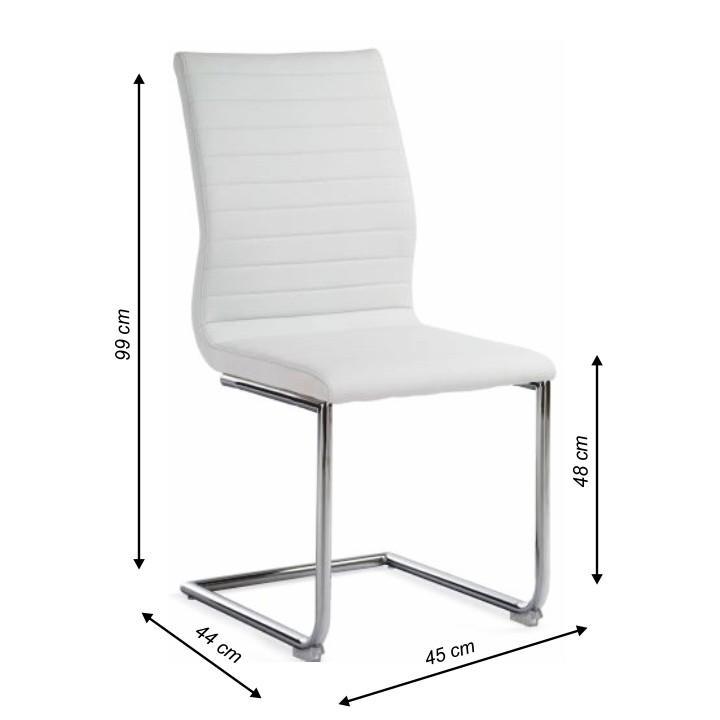 TEMPO KONDELA Stolička, ekokoža biela/chróm, OTILA - Tempo nábytek