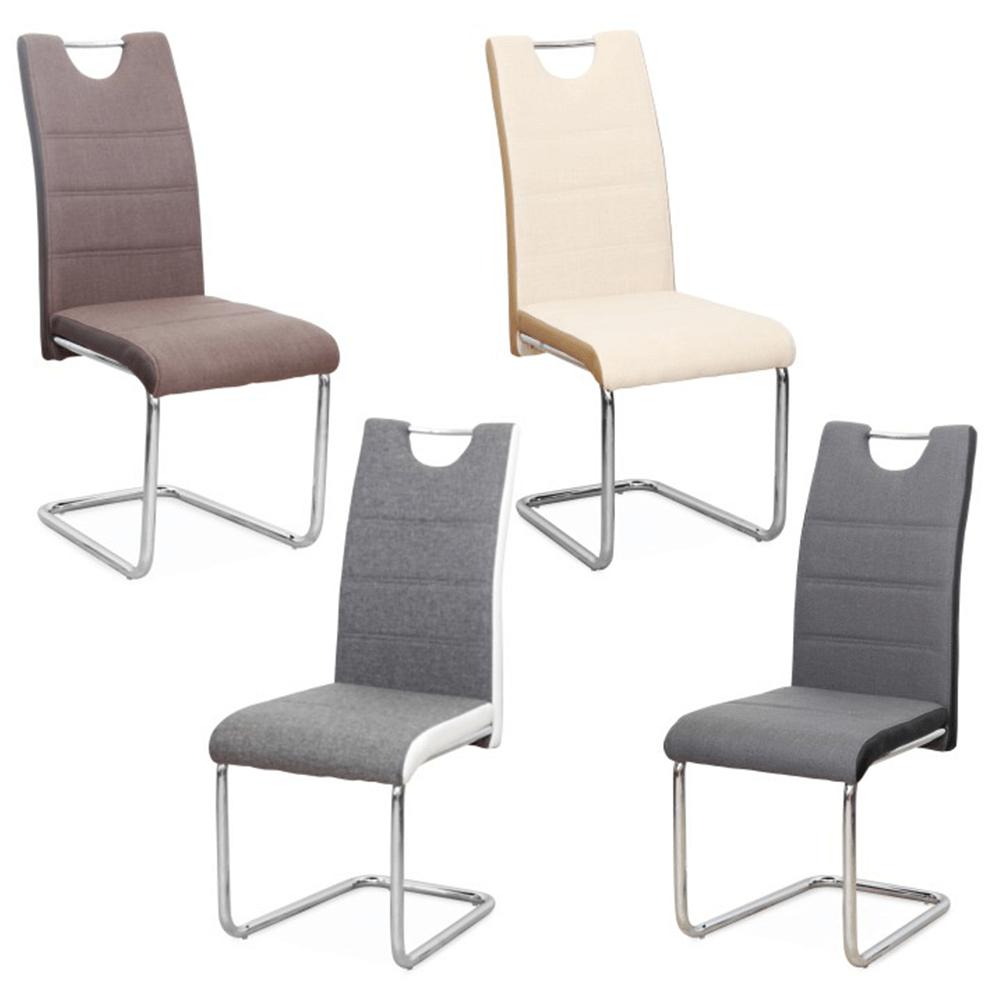 Židle, látka béžová / ekokůže béžová / chrom, Izma, TEMPO KONDELA