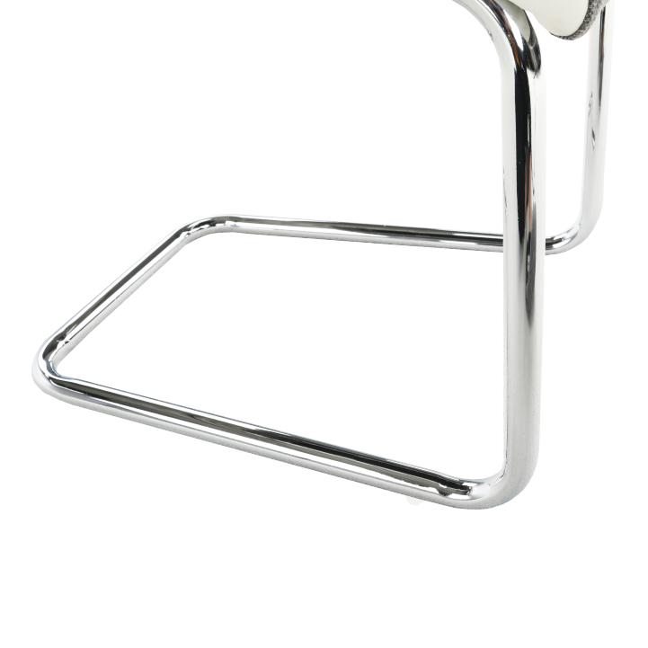 Židle, látka šedá / ekokůže bílá / chrom, Izma, TEMPO KONDELA