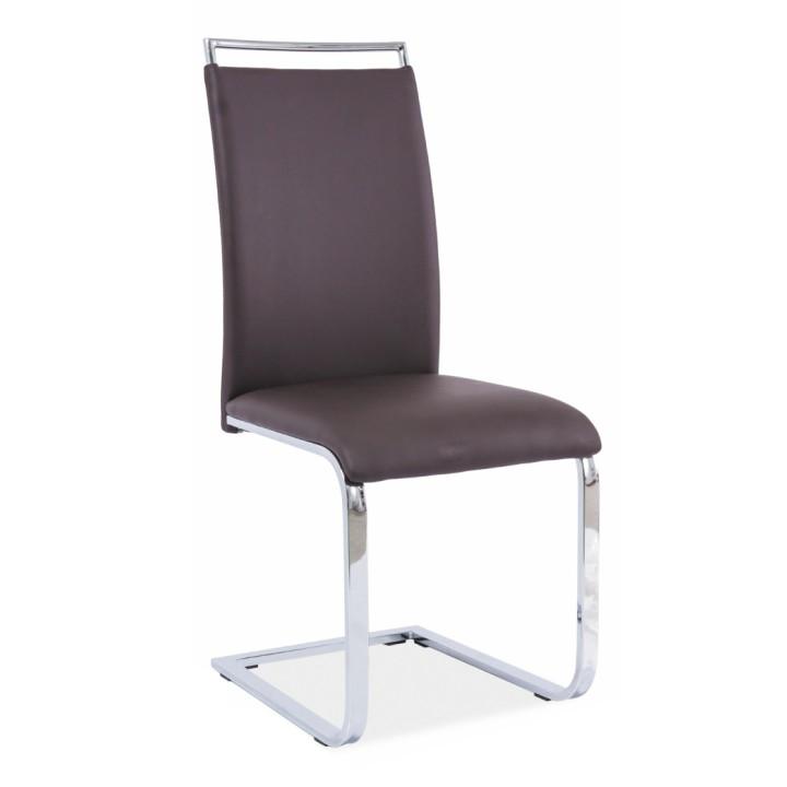 Jedálenská stolička, tmavohnedá, BARNA NEW