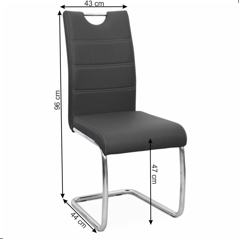 Židle Abira New, černá / světlé šití, TEMPO KONDELA