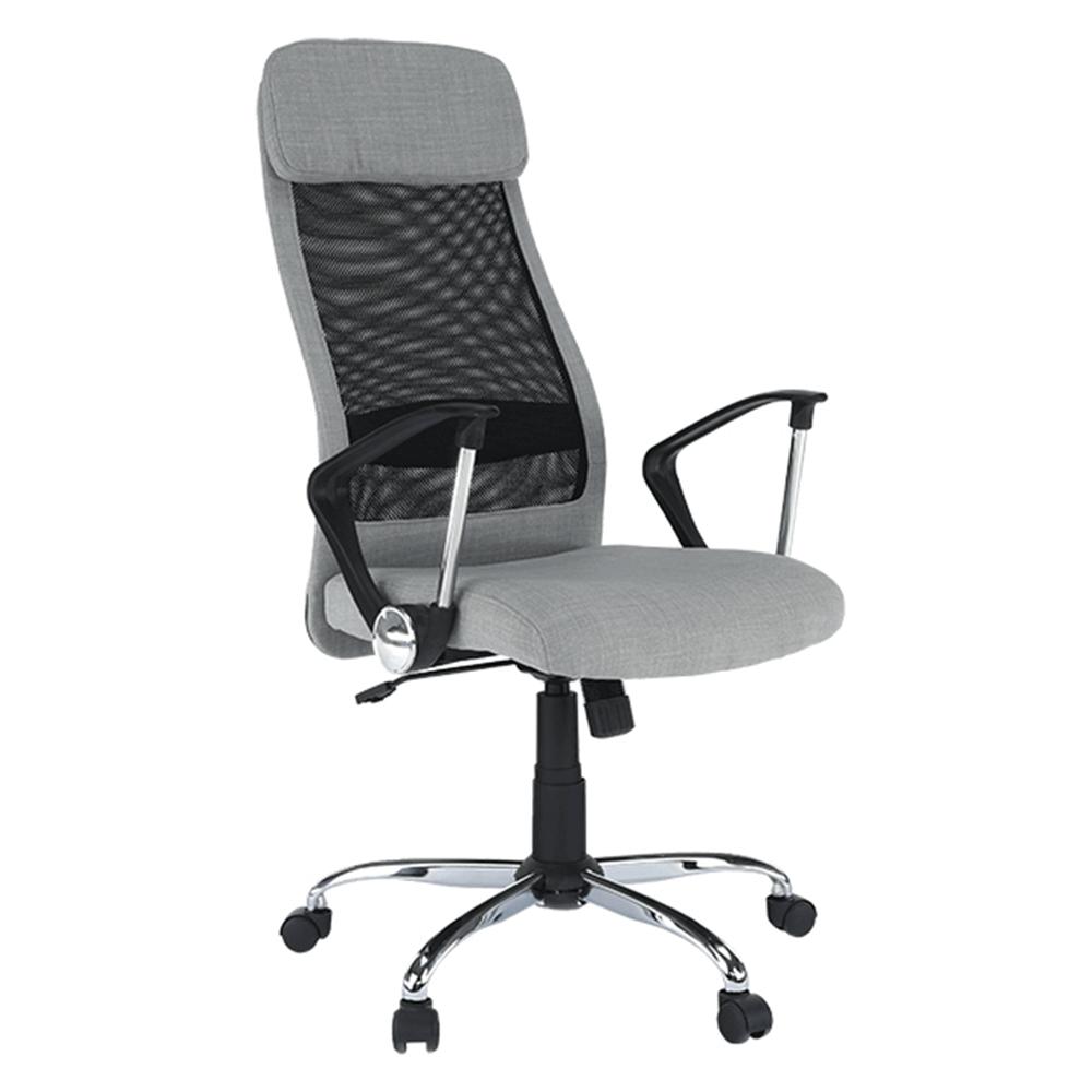 Kancelárske kreslo, svetlosivá/čierna, FABRY