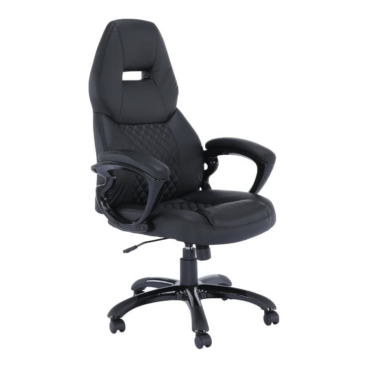 Irodai szék, fekete textilbőr, HEVYR